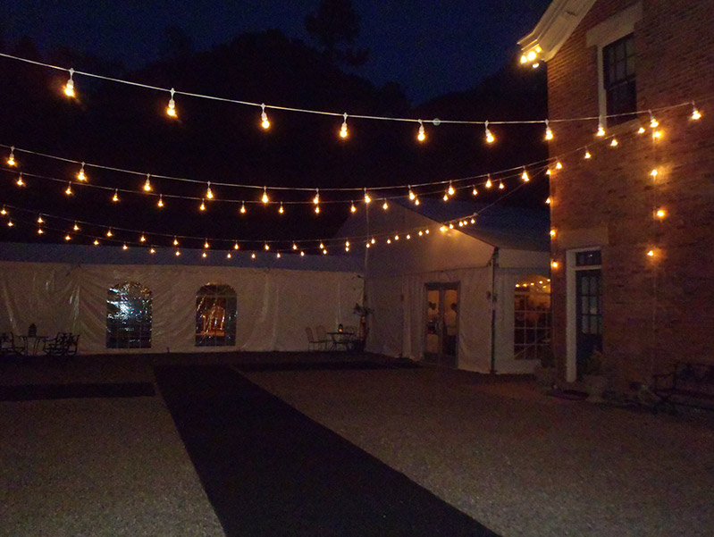 reputable site a5d28 699f6 Bistro Lights 54' Warm White Led 50 Light - White